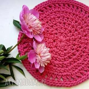 handmade podkładki podkładka na stół róż