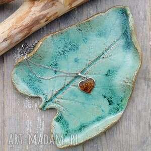 Ceramiczny talerzyk, liść c132 ceramika shiraja liść, podstawka