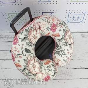 hand made dla dziecka poduszka podróżna kwiaty vintage garden szare