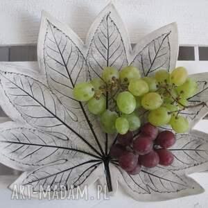 patera liść - ,dekoracyjna,ceramika,ceramiczny,talerz,dekoracyjny,ozdobny,