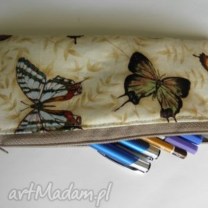 Piórnik Motyle , etui, piórnik, motyl, motyle, bawełna, kosmetyczka