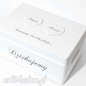 Ślubne pudełko na koperty Kopertówka Personalizowane Napis Dziękujemy, pudełkonadary