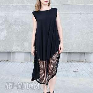 święta, sukienki mała czarna z siatki, mała, czarna, przezroczysta, oversize