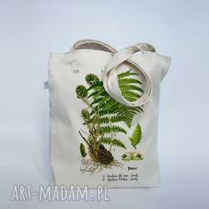 mimi monster torba paprociak - płócienna, plażowa, na zakupy, eco