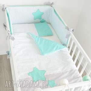 pościel do łóżeczka sŁodkie sny mięta - gwiazdy, gwiazdki