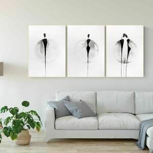 zestaw 3 obrazów 50x70 cm wykonanych ręcznie, abstrakcja, 2987906, obraz ręcznie