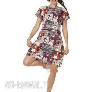 sukienka bawełna best friends, designerska, limitowana, polska marka