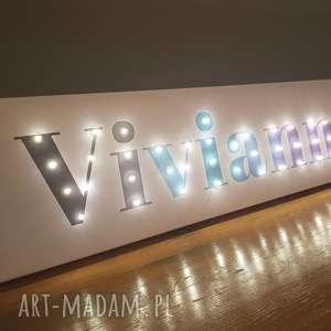 handmade pokoik dziecka obraz led twoje imię pastelowa dekoracja ombre litery lampa