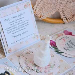 ślub exploding box ślubny z tortem bąbelkami, ślub, box, życzenia