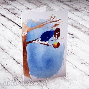 Karteczka Wielkanocna, wielkanoc, kartka, życzenia, akwarela, jajka