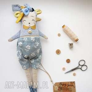 maskotki monsterówna adrianna - lalka z tkanin handmade, przytulanka, prezent