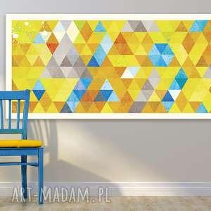 obraz na płotnie - 150x60cm abstrakcja trójkąty 02107 wysyłka w 24h