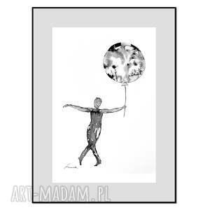 balloon stories 1g, plakat autorski, grafika, plakat