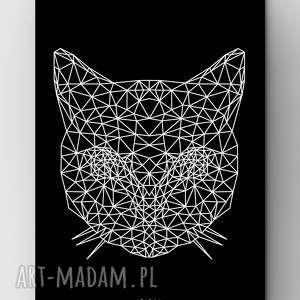 Kot BLACK A3, plakat, grafika, dom, kot, kotek, miau