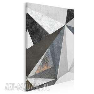 obraz na płótnie - beton marmur wzór w pionnie 50x70 cm 59303