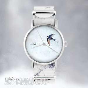 ręcznie wykonane zegarki zegarek - jaskółka marmurkowy, nato