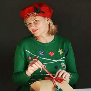 święta, beret świąteczny, czapka, beret, woalka