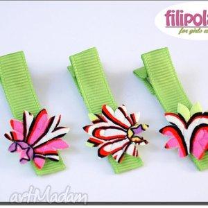 spinki filipola trzy kolorowe słoneczka handmade, spinki, słoneczka