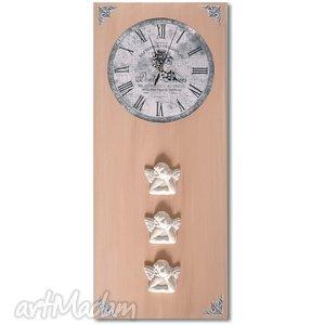 zegary zegar anioły, zegar, anioł, decoupage, retro dom