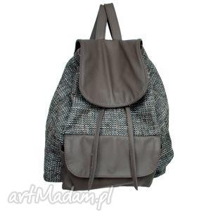 39-0003 szaro-biały damski plecak turystyczny / szkolny młodzieżowy redpoll