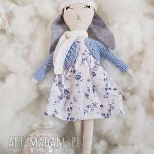 tilda królik wersja zimowa, lala, lalka, królik, prezent, dla dziewczyki