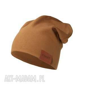 ręcznie wykonane czapka podwójna karmelowa
