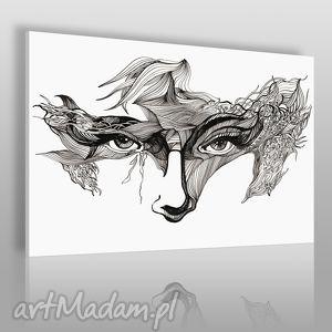 vaku dsgn obraz na płótnie - oczy maska 120x80 cm 21101, maska, oczy, karnawał