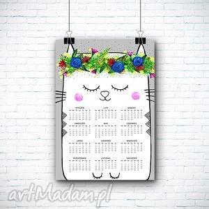 kalendarz na 2026 rok a3, kalendarz, kot, kotek, wyjątkowy prezent