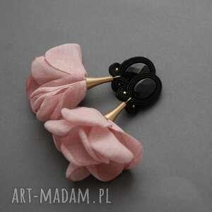 Klipsy sutasz z kwiatkiem sisu sznurek, wyjściowe, długie