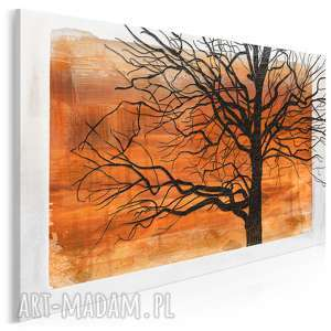 obraz na płótnie - konary pomarańczowy 120x80 cm (17801)