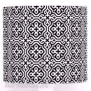 abażur marrakech black 25x25x22cm od majunto - abażur, abażur-mozaika