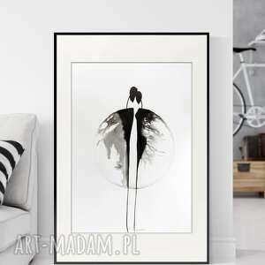 minimal art obraz ręcznie malowany 50 x 70 cm, nowoczesna abstrakcja, 2827578