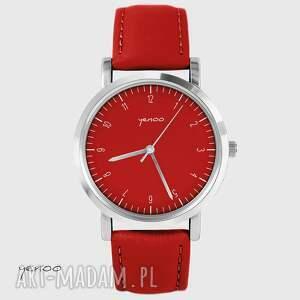 Prezent Zegarek - Simple elegance czerwony, skórzany, zegarek, bransoletka