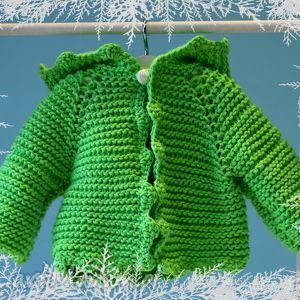 sweterek shreka ubranko dla lalki misia ok 40 cm lalki - włoczka, waldorfska