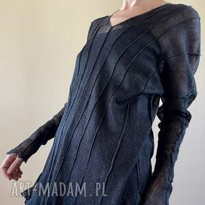 anna damzyn elegancka lniana tunika, bluzka, sweter, lniana, one size