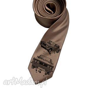 Prezent Krawat Fiat, krawat, nadruk, duży, fiat, prezent