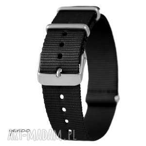 pasek do zegarka - nato, nylonowy, czarny, pasek, zegarek, nylonowy