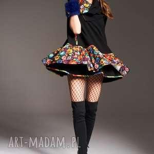 SUKIENKA IRENA 5963, sukienka-z-falbaną, sukienka-krótka, sukienkanowoczesna