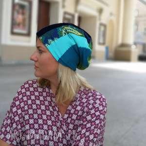 ręczne wykonanie czapki czapka patchworkowa kolorowa damska przejściówka boho
