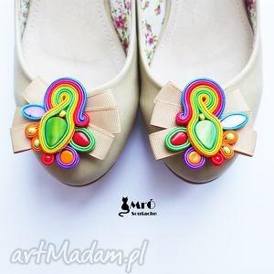 ozdoby do butów klipsy - bajkowe, klipsy, sutasz, soutache, kolorowe