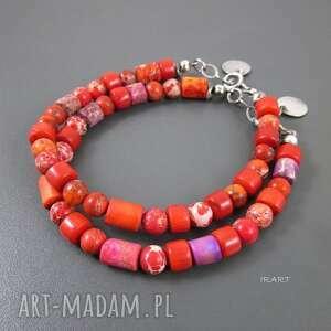 Kolorowo z koralem, koral, srebro, oksydowane