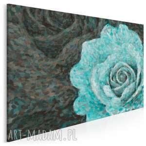 obraz na płótnie - róża mięta 120x80 cm 14101, róża, mięta, miętowy, płatki