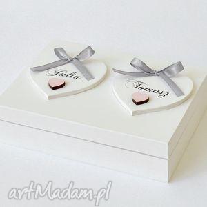 koloryziemi pudełko na obrączki ślubne romantyczne, pudelkanaobraczki