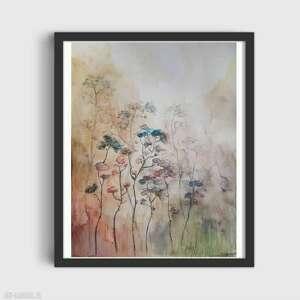 jesienne trawy-akwarela formatu a4, akwarela, trawy, jesień, farby, papier