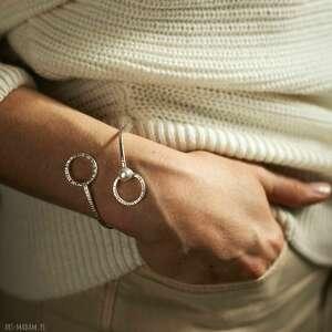 bransoletka srebrna z naturalną perłą, biżuteria perłą