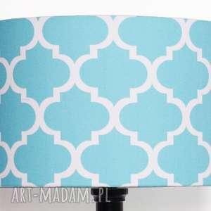 abażur fresh turquoise 40x40x25cm od majunto, abażur, marokński-abażur