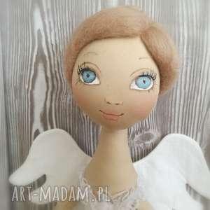 anioŁ dekoracja ścienna - figurka tekstylna ręcznie szyta i malowana - salon