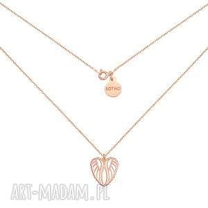naszyjniki naszyjnik ze skrzydełkami w kształcie serca z różowego złota