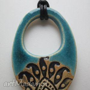szlachetny - ceramiczny, turkusowy