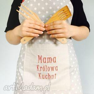 Fartuch Mama Królowa Kuchni - ,fartuch,mama,dla-mamy,dzień-mamy,fartuszek,haft,